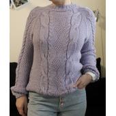 Téli álom pulóver kötésminta leírása